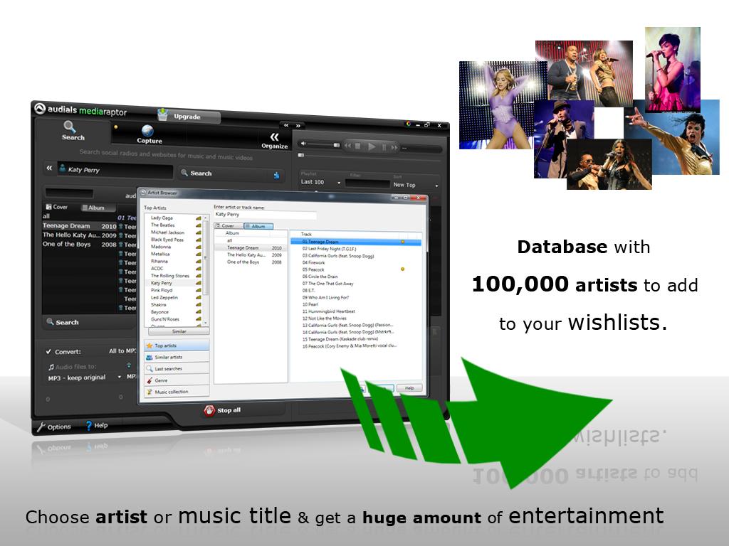 Screenshot vom Programm: Audials Mediaraptor